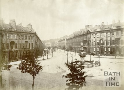 Laura Place and Great Pulteney Street, Bath c.1890