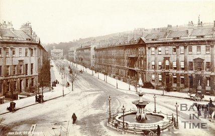 Laura Place and Great Pulteney Street, Bath c.1887