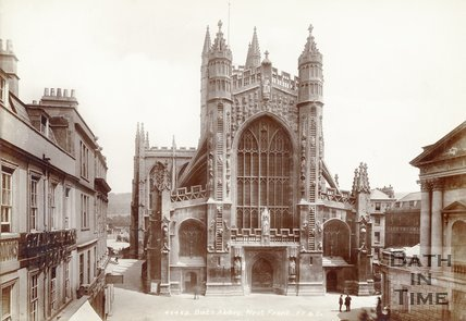 The west front of Bath Abbey, Bath 1901