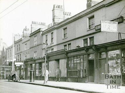 Shops in Ladymead, Walcot Street, Bath c.1925