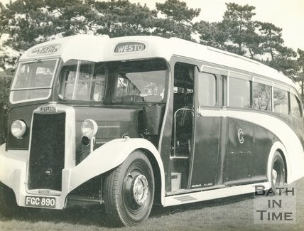 A Majestic Coach in Bath, c.1950s?