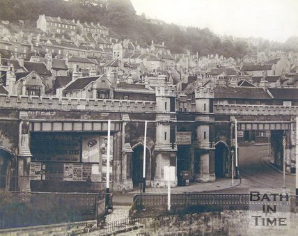 View of the viaduct looking towards Holloway, Bath, c.1910