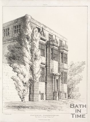 The old Claverton Manor house, 1837