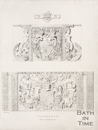 Details of the chimney pieces of the old Claverton Manor, near Bath, 1837