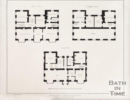 Floor plan of the old Claverton Manor, near Bath, 1837