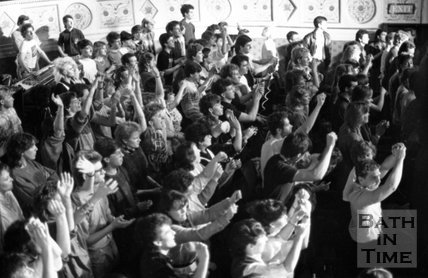 The audience at Tears for Fears at the Theatre Royal, Bath, 31 March 1985
