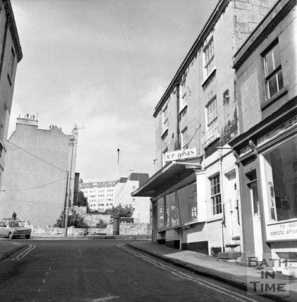 Ballance Street, old and new, Bath, 6 June 1973