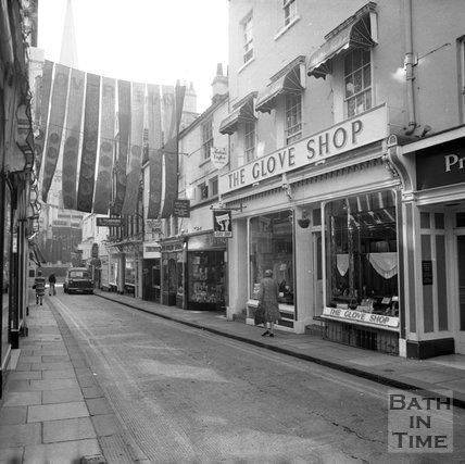 Green Street shops, Bath, 24 August 1973