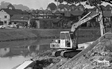 Work on the river path by Green Park, Bath, September 24 1973