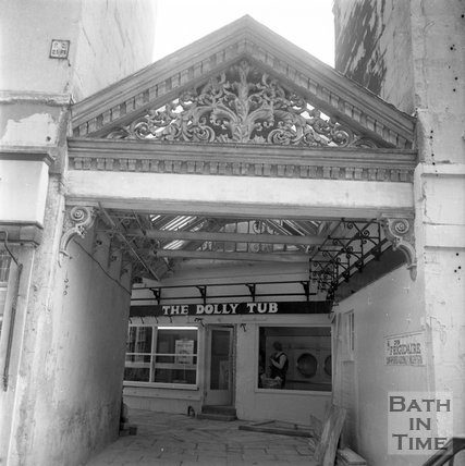 The entrance to St James Place off St James Square, Bath, 8 October 1973