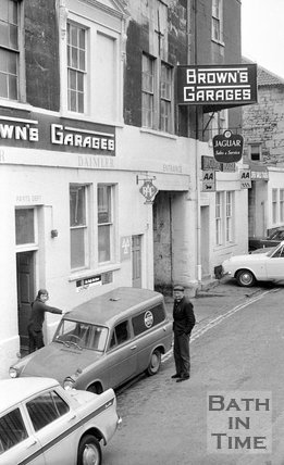 Browns Garage, Grove Street, Bath, 1 November 1973