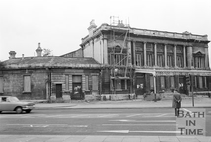 The derelict Green Park Station, Bath, 15 May 1974