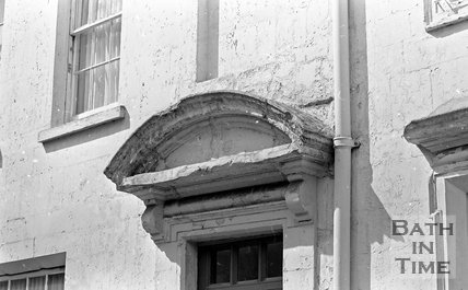 Door pediment in Beauford Square, Bath, 15 May 1974