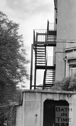 Fire escape on an unidentified Bath building, Bath, 15 May 1974
