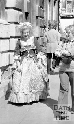 Filming The Bawdy Adventures of Tom Jones at Abbey Green, Bath, 13 May 1976