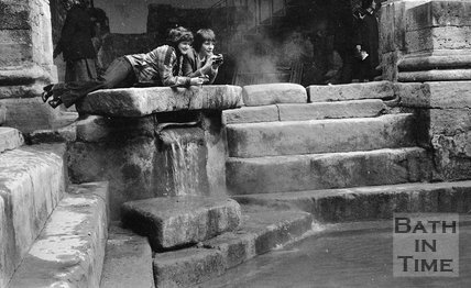 The Roman Baths being refilled, 3 April 1979