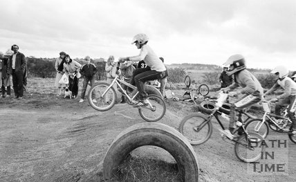 BMX riders at Odd Down, Bath, 31 October 1982