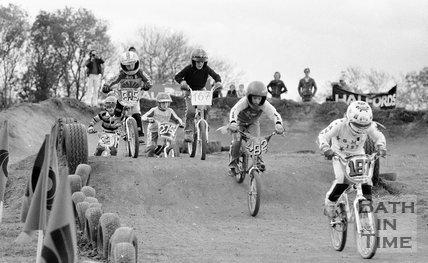 BMX riders at Odd Down, Bath, 31 October 1982