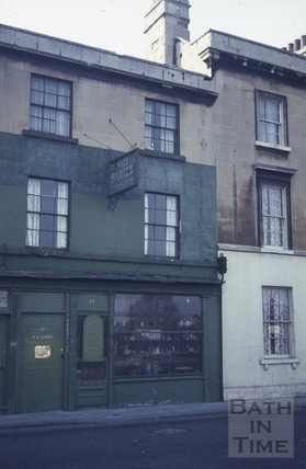 Roy Barter's shop, 23, Walcot Street, Bath c.1965