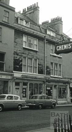 Ifould's grocery store, 5 & 6, St. James's Street, Bath 1966