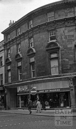 Hepworth's clothing store, 20 & 21, Cheap Street, Bath 1966