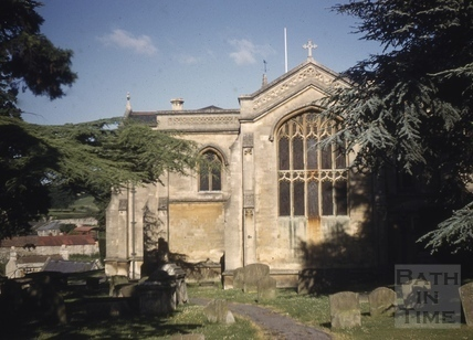 East end of All Saints' Church, Weston, Bath 1961