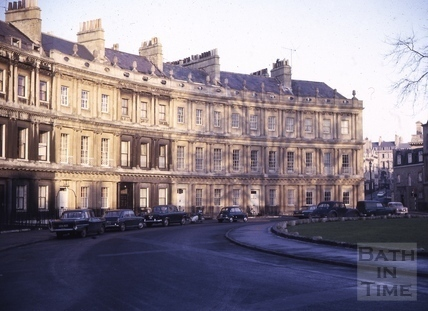 The Circus looking towards Bennett Street, Bath 1965