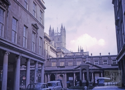 Bath Street and the Mineral Water Fountain, Bath 1964