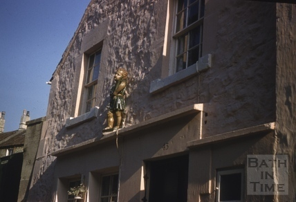 Statue of St. Alphage, 13, Church Road, Weston, Bath c.1958