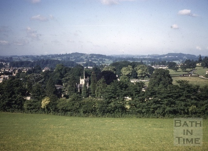All Saints' Church, Weston, Bath from Lansdown 1961