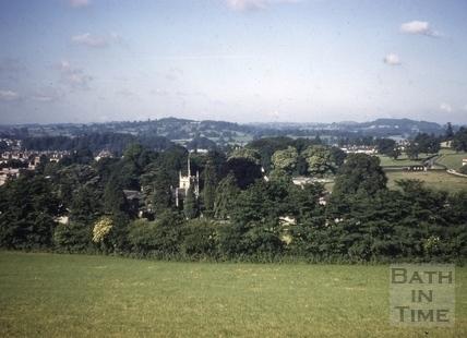 All Saints' Church, Weston, Bath from Lansdown 1961