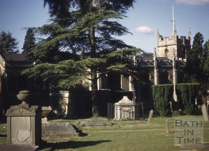 North side of All Saints' Church, Weston, Bath 1961