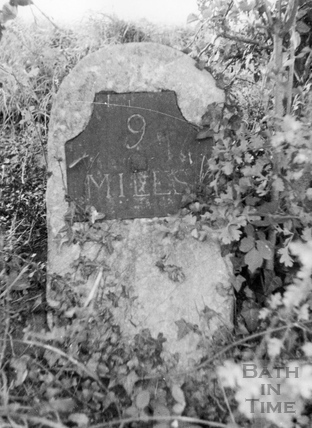 Nine mile post, Somersetshire Coal Canal c.1951