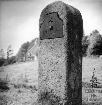 Four mile post, Somersetshire Coal Canal 1951