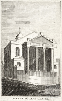 Queen Square Chapel (St. Mary's), Bath c.1840
