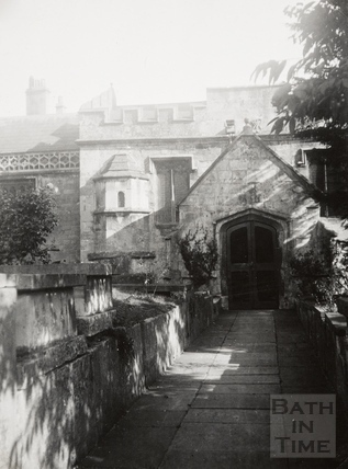 View of entrance, St. Thomas à Becket Church, Widcombe, Bath c.1950