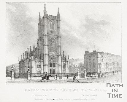 St. Mary's Church, Bathwick, Bath 1825