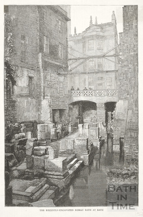 The recently excavated Roman Bath, Bath c.1890