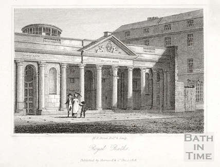 Royal Baths (Entrance to the Private Baths), Bath 1818