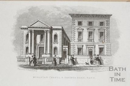 Morovian Chapel & Savings Bank, Charlotte Street, Bath c.1845