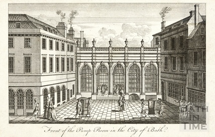 Front of the Pump Room in the City of Bath c.1765?