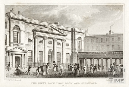 The King's Bath, Pump Room and Colonnade, Bath 1829