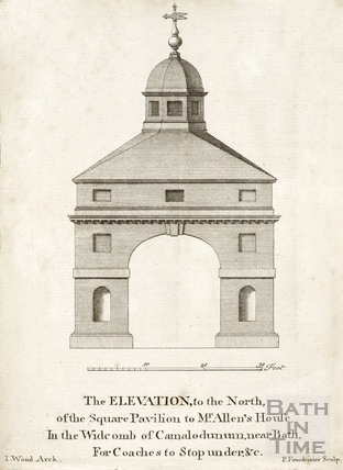The Elevation, to the North of Mr. Allen's House, Prior Park, Bath 1749