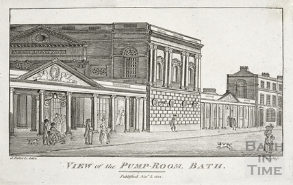 View of the Pump Room, Bath 1801