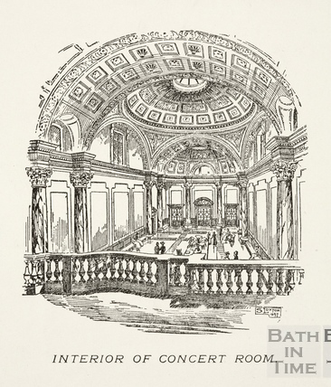 Interior of the Concert (Pump) Room, Bath 1897