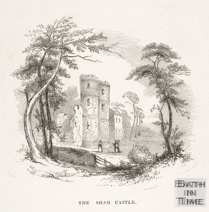 The Sham Castle, Bath 1848