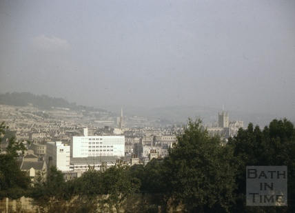 Bath from the cemetery of Magdalen Chapel, Holloway, Bath 1962