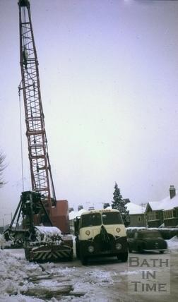 Grab lifting snow in Newbridge Road, Bath 1963