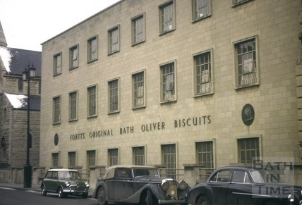 Bath Oliver Biscuit Factory, Manvers Street, Bath 1963
