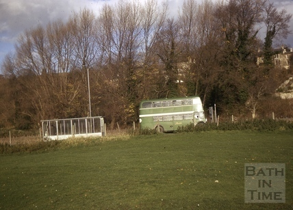Leaving the bus stop, Old Newbridge Hill, Bath 1970